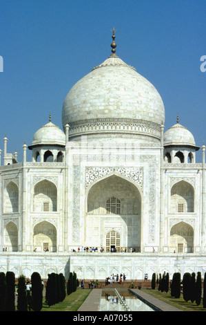 Taj Mahal Central Section, Rajasthan, India - Stock Image