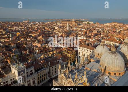 View over Basilica di San Marco - Stock Image
