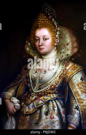 Portrait of a Lady by Chiara Varotari 1584-1663 Italy Italian - Stock Image