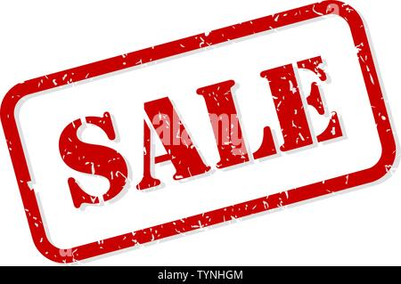 Sale red rubber stamp vector isolated - Stock Image