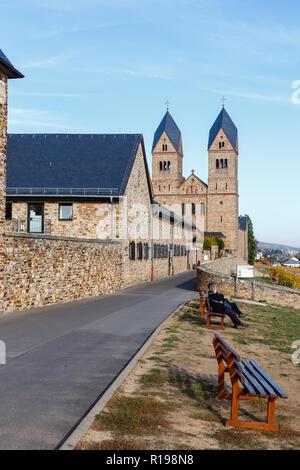 Eibingen Abbey (Abtei St. Hildegard), near Rüdesheim, Hesse, Germany. 7th November 2018 - Stock Image