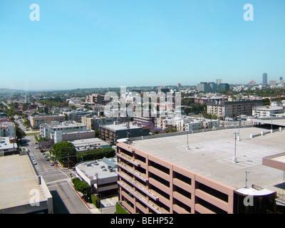 Skyline of Los Angeles, California - Stock Image