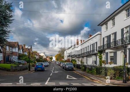 St Dunstan's Terrace,On right,Circa 1830,Terrace of small stuccoed houses,Canterbury,Kent,England - Stock Image
