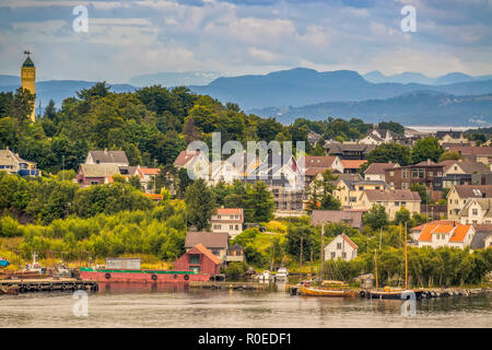 Houses Around The Harbour,  Stavanger  Norway - Stock Image