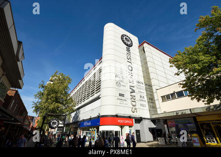 The exterior of West Orchards shopping centre on Smithford Way in Coventry city centre UK - Stock Image