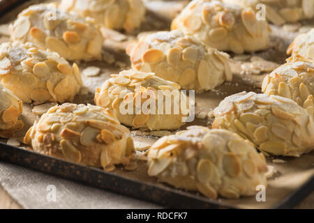 Almondies. Almond cookies - Stock Image