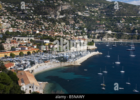 South France Cote d Azur Villefranche sur mer yachting port - Stock Image