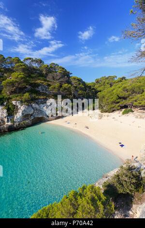 Spain, Balearic Islands, Menorca, Cala Macarelleta - Stock Image