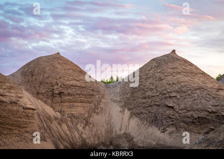 Accidental angel of 2 small hills - Stock Image