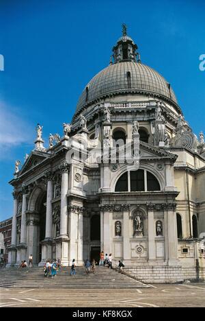 Veneto Venice Santa Maria della Salute - Stock Image