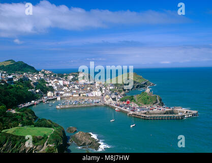 Elevated view of Ilfracombe, Devon, England, UK. - Stock Image