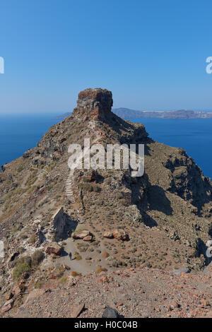 Skaros rock at Imerovigli , Santorini - Stock Image