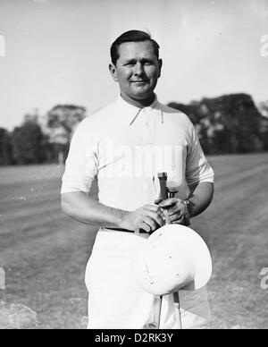 Polo Player Cecil Smith at the Meadow Brook Club, Westbury, NY May 16, 1939 - Stock Image