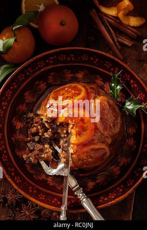 Xmas pudding - Stock Image