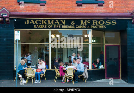 Bakery cafe in Hampden Road, Battery Point, Hobart, Tasmania, Australia - Stock Image
