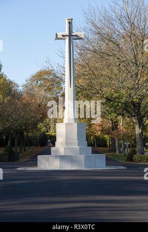Tidworth military cemetery, Tidworth, Wiltshire, England, UK - Stock Image
