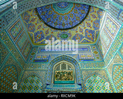 Tilework detail of the Blue Mosque in Mazar-e Sharif, Afghanistan - Stock Image