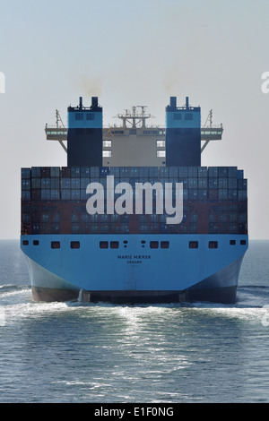 World's biggest Containership Marie Maersk - Stock Image