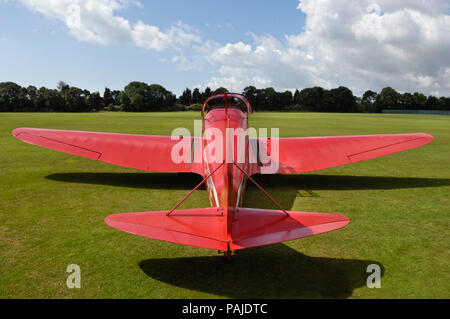 Tipsy Belfair parked on grass at the Duke of York's Royal-Military-School, Dover, UK, during the Bleriot 100th Anniversary airshow - Stock Image