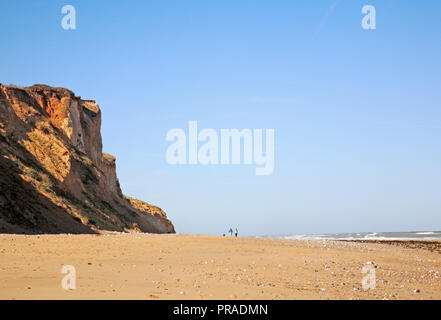 A view of the cliffs and beach on the North Norfolk coast to the west of East Runton, Norfolk, England, United Kingdom, Europe. - Stock Image
