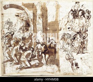 Charles Alphonse Dufresnoy   The Adoration of the Magi   Google Art Project - Stock Image