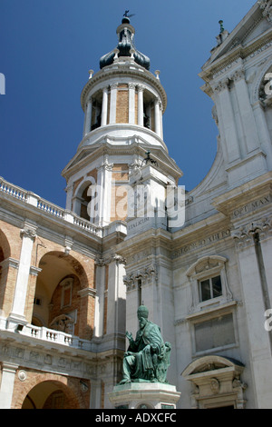 the great Basilica of Loreto in Le Marche Italy - Stock Image