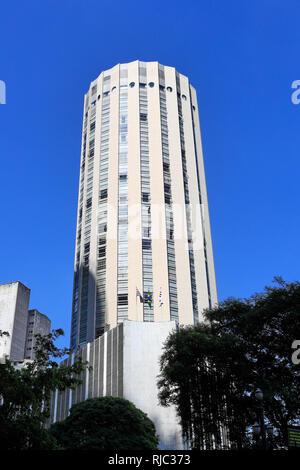 The old Hilton Hotel in Sao Paulo. Sao Paulo. Brazil - Stock Image