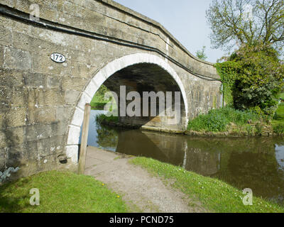 Bridge 172 Leeds Liverpool Canal Gargrave UK near Skipton - Stock Image