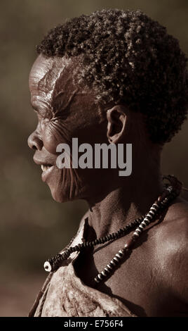 African tribeswoman - Stock Image