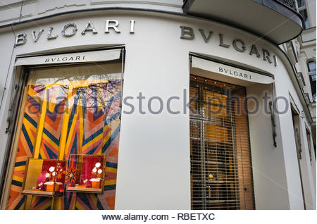Bulgari store - Stock Image
