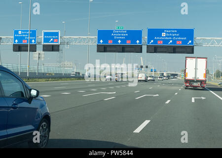 Diemen Interchange, E231, A1, A9, Netherlands - Stock Image