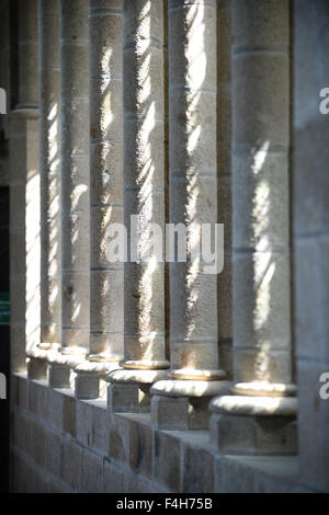 Shadows at Mont St Michel - Stock Image