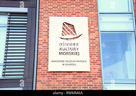 Maritime Culture Centre in Gdansk - Stock Image