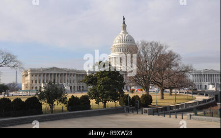 View of US Capitol from Library of Congress on Capitol Hill in Washington DC - Stock Image