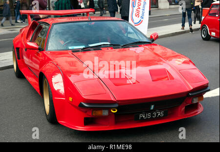 Three-quarter front view of a De Tomaso Pantera  GTS  on display at the Regents Street Motor Show 2018 - Stock Image