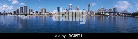 Brisbane skyline - 180 degree panorama - Stock Image