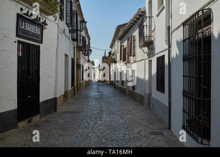 A typical Street in Baeza, Jaén province, Andalusia, Spain. - Stock Image