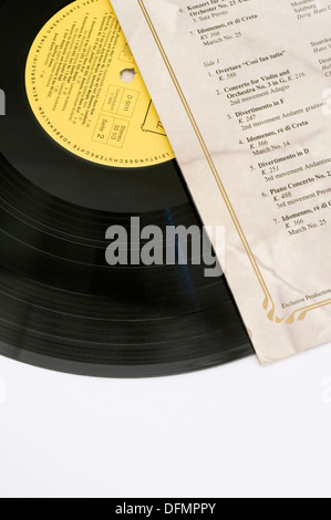 classic music vinyl record and cover - Stock Image