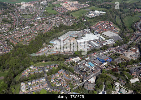 aerial view of Daneside Business Park, Congleton CW12 - Stock Image