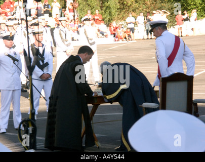 Honorary Freedom of the City of Gibraltar being granted to the British Navy dignitary dignitaries - Stock Image