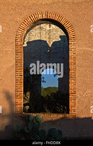 MINING RUINS in historic MINERAL DE POZOS which is a MAGICAL TOWN - MEXICO - Stock Image
