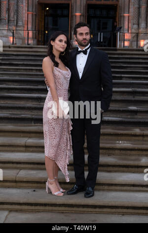 Lucy Watson and James Dunmore attends The global premiere of Netflix's OUR PLANET on Friday 5 April 2019 at The Natural History Museum, London. . Picture by Julie Edwards. - Stock Image