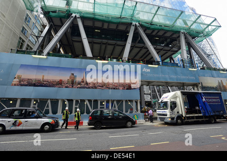 The Leadenhall building being built - Stock Image
