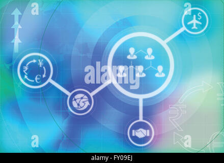 Illustrative image of representing globalization of business - Stock Image