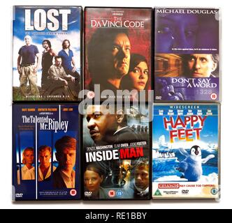 6 Various DVD's - Stock Image