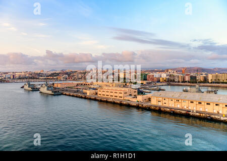 The docks and port of Las Palmas Gran Canaria Canary Islands - Stock Image