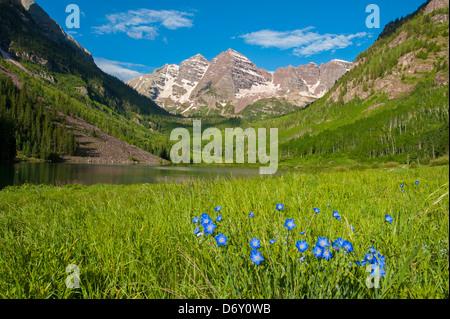 Maroon Bells Aspen, Colorado - Stock Image