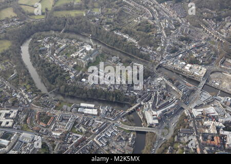 An aerial view of the City of Durham, North East England - Stock Image