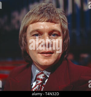 Graham Bonney, britischer Entertainer und Schlagersänger, Deutschland ca, 1975. British schlager singer and entertainer Graham Bonney, Germany ca. 1975. - Stock Image