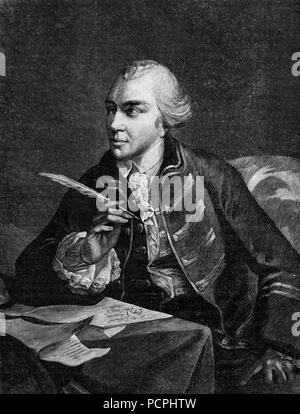 John Wilkes,1725 1797, English Radical, Journalist, and Politician-  Illustration from Cassell's History of England, King's Edition Part 33 - Stock Image
